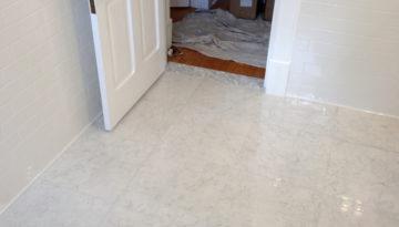 Porcelain marble lookalike tile! Peronda Museum tile, 18×18, polished, bianca carrara.