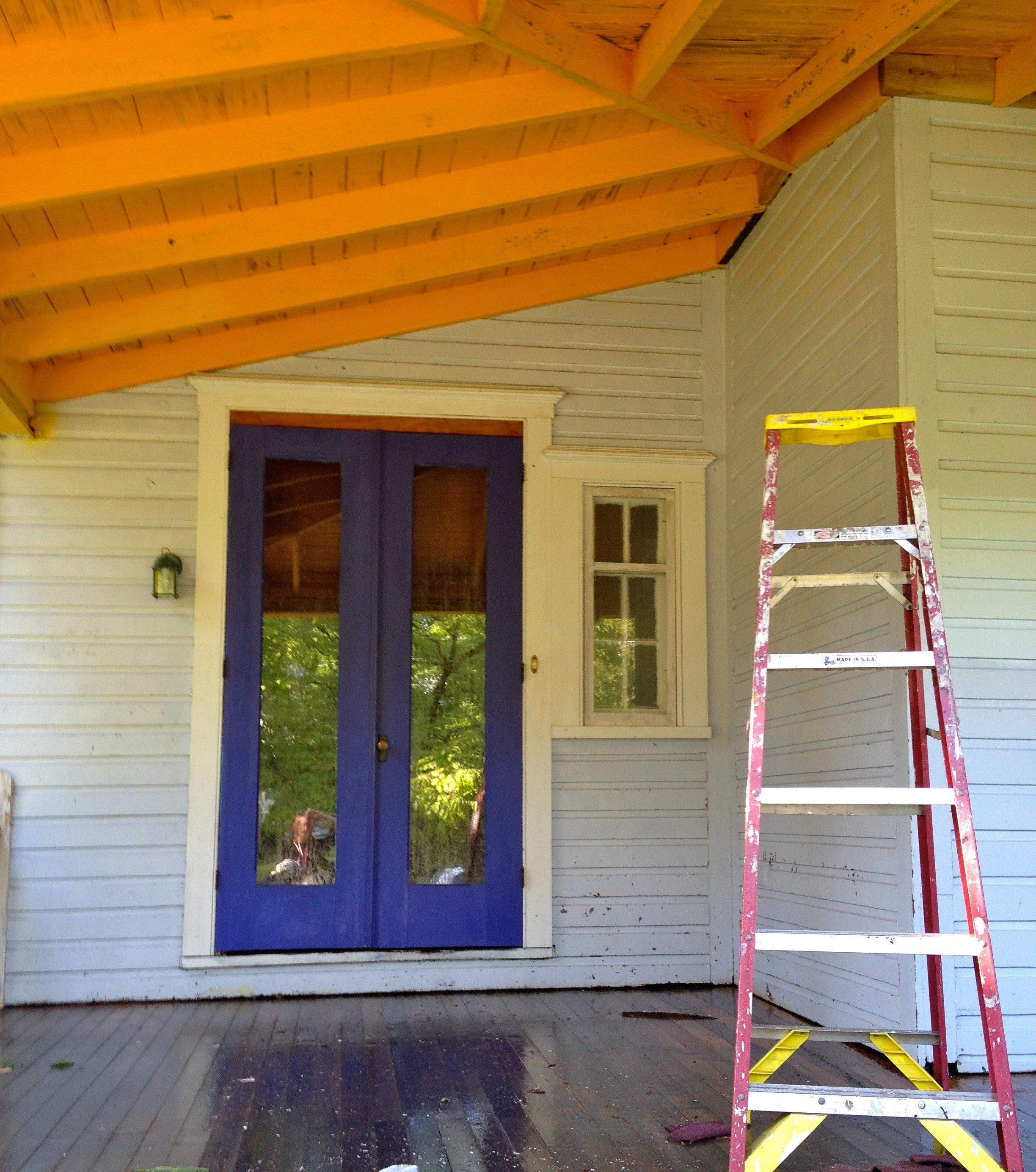 Victorian Wrap Around Porch Double Front Doors Crown Molding Over Entrance Color Choices Powerwash Siding Victoria Elizabeth Barnes