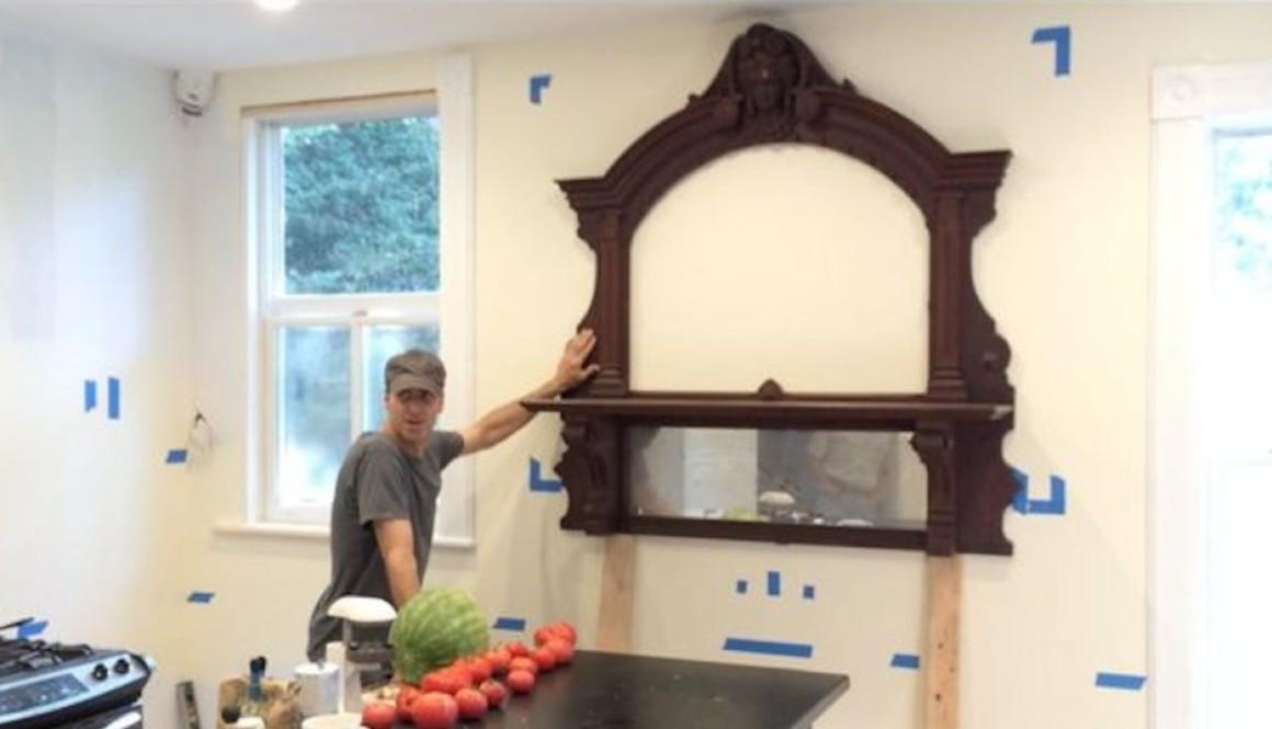 diy kitchen remodel mirror over sink fb