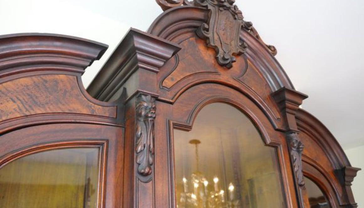 Victorian-Renaissance-revival-antique-glass-door-bookcase 2