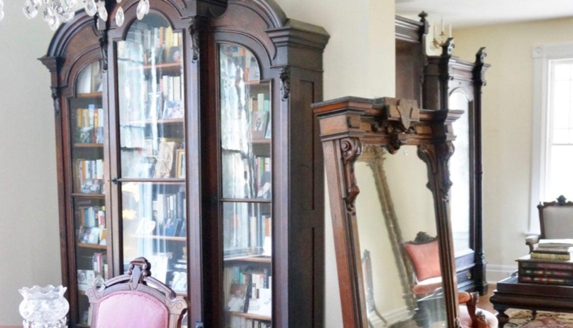 Renaissance revival victorian mantle mirror