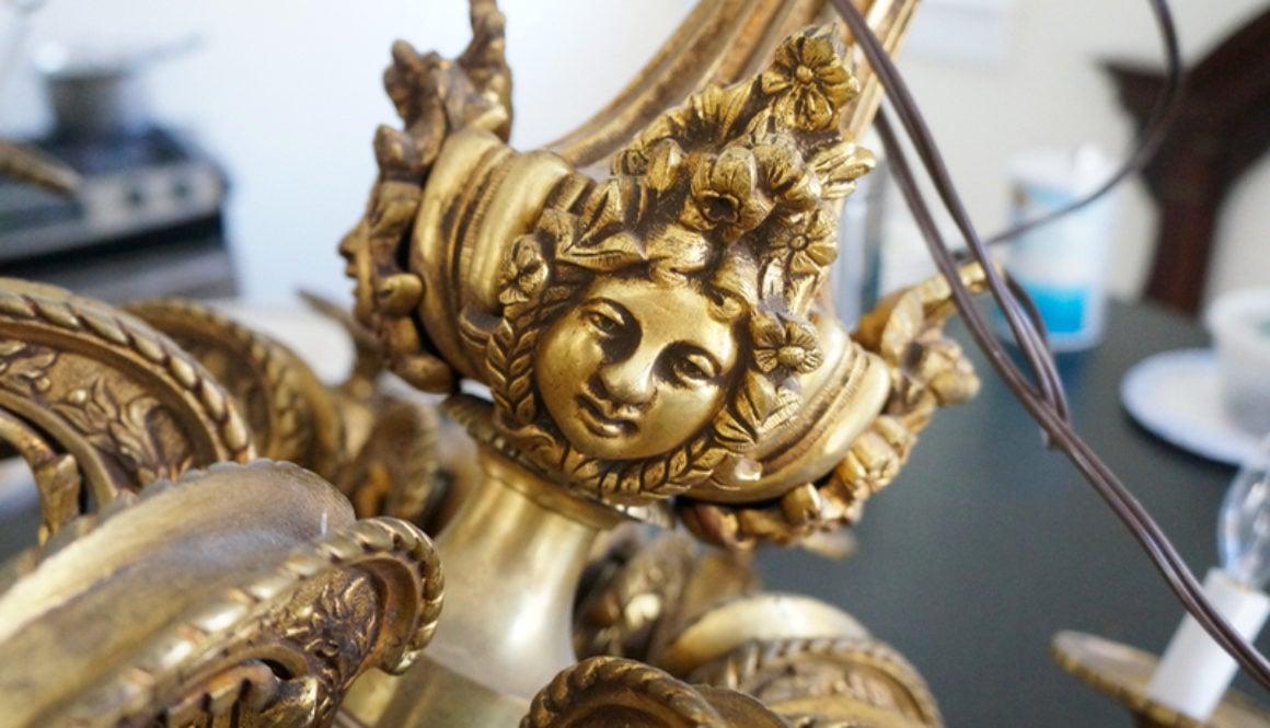 renaissance revival gilded bronze chandelier 3