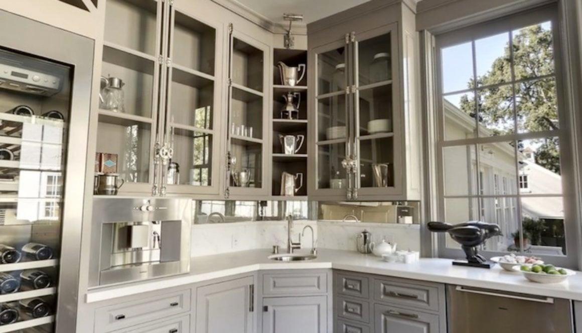 corner built in storage kitchen cabinet