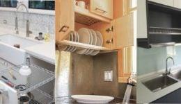 dish-rack-hidden-in-kitchen-cabinet-over-sink ideas